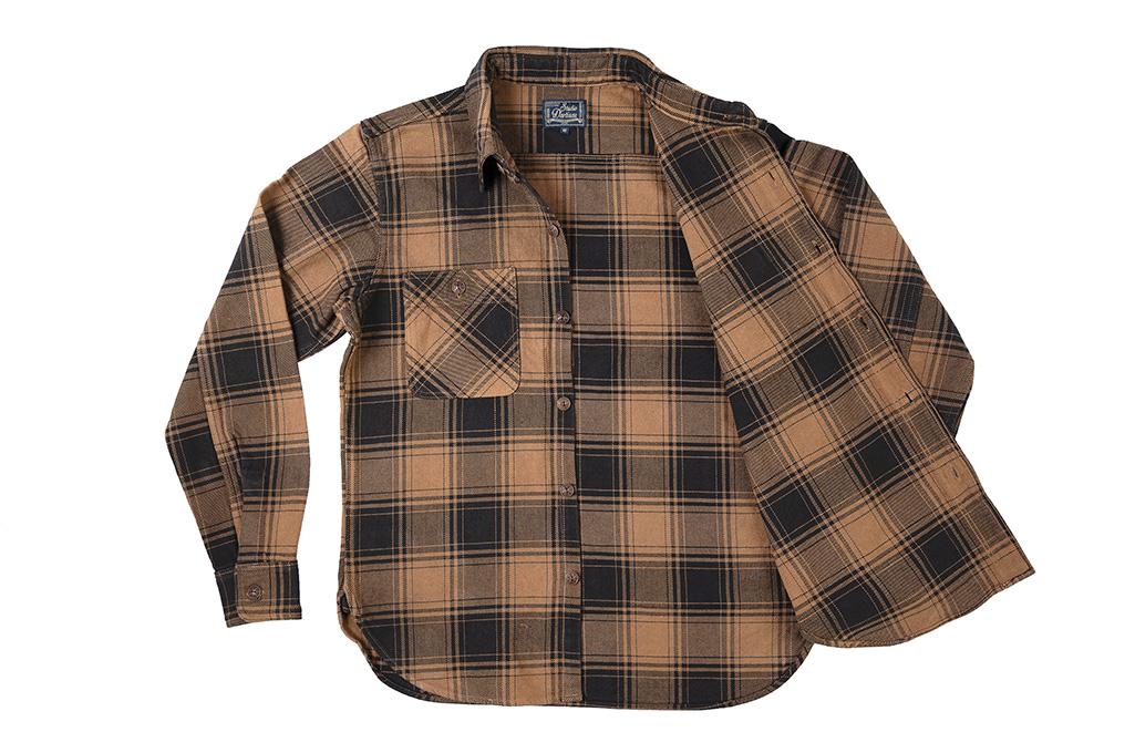 Studio D'Artisan Kakishibu (Persimmon) Dyed Flannel Shirt - Image 8