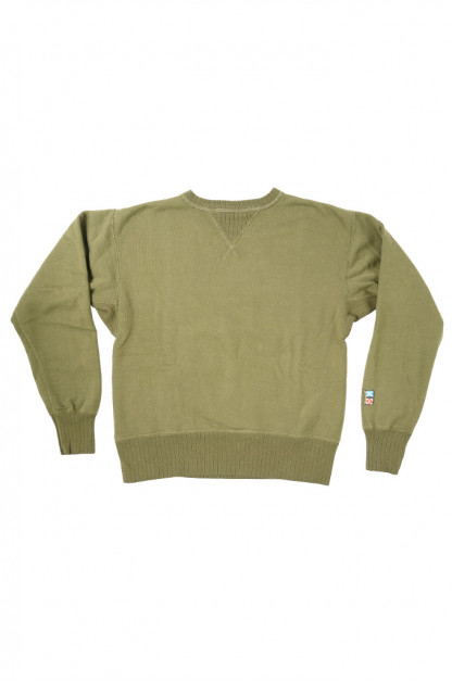 """Mister Freedom """"The Medalist"""" Crewneck Sweater - Olive"""