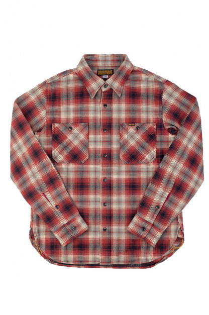 Iron Heart Ultra-Heavy Flannel - Classic Red Check Workshirt