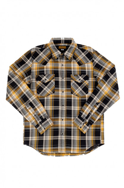 Iron Heart Ultra-Heavy Flannel - Crazy Check Yellow