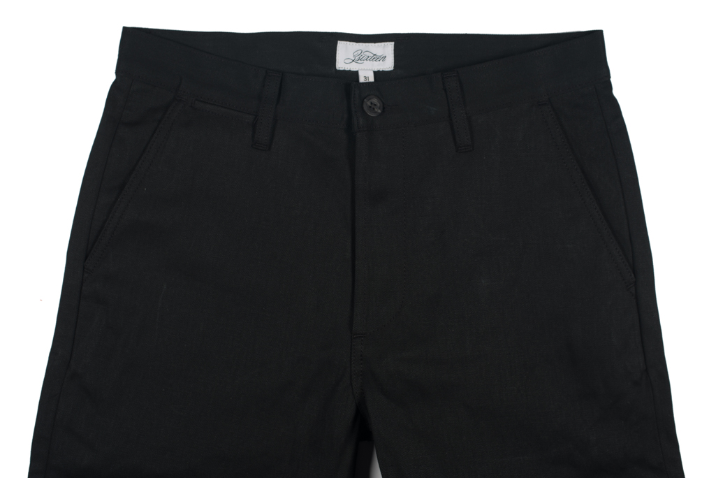 3sixteen Selvedge Chinos - Black - Image 3