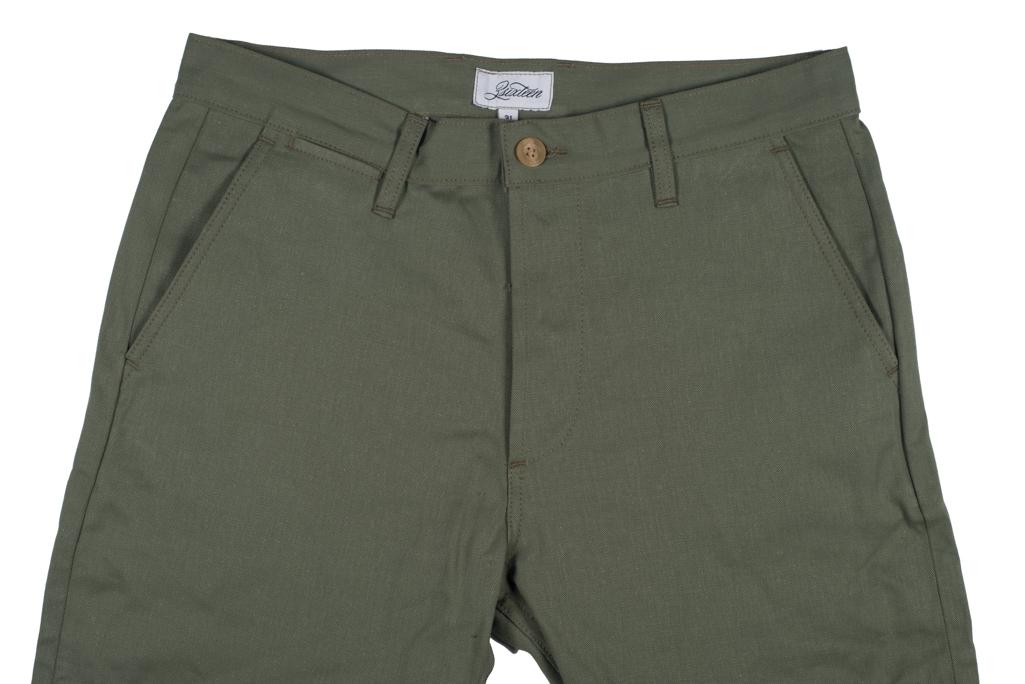 3sixteen Selvedge Chinos - Olive - Image 3