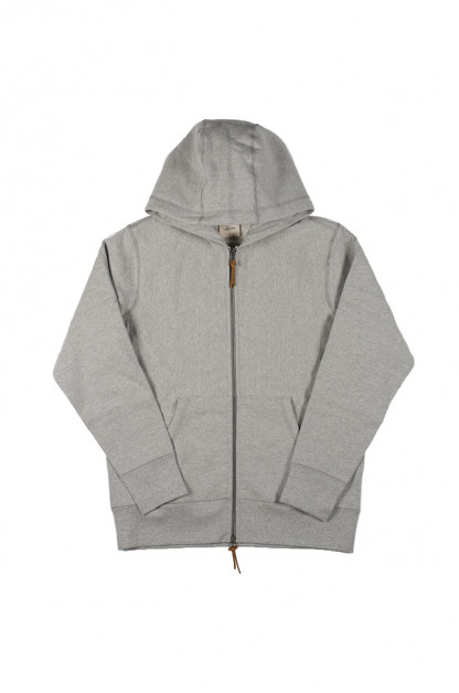 3sixteen Heavyweight Zippered Hoodie - Gray