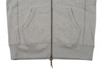 3sixteen Heavyweight Zippered Hoodie - Gray - Image 8