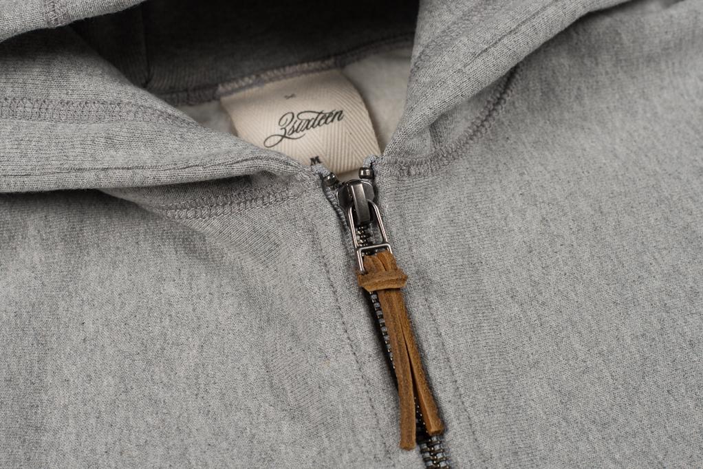 3sixteen Heavyweight Zippered Hoodie - Gray - Image 9
