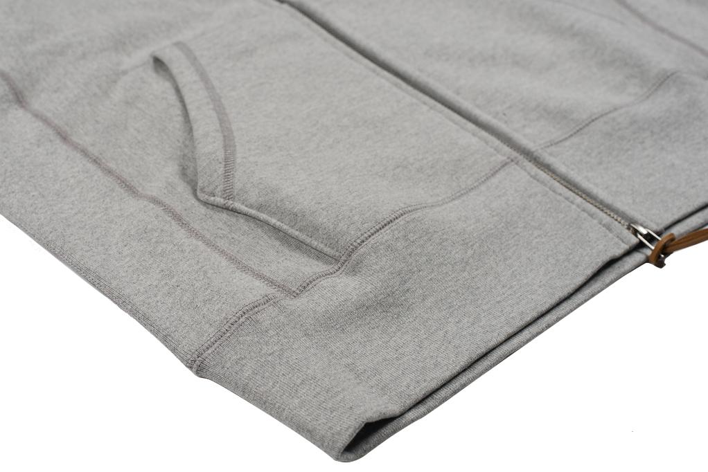 3sixteen Heavyweight Zippered Hoodie - Gray - Image 10
