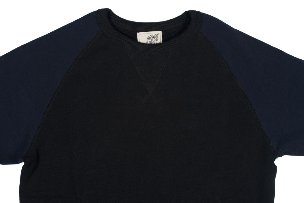 4785edb19c71 Nine Lives Loopwheeled Tsuriurake Crewneck Sweater - Black/Navy