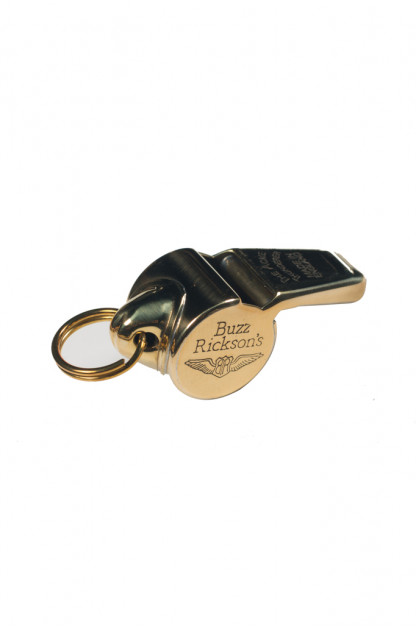 Buzz Rickson Brass Whistle w/ Split Ring