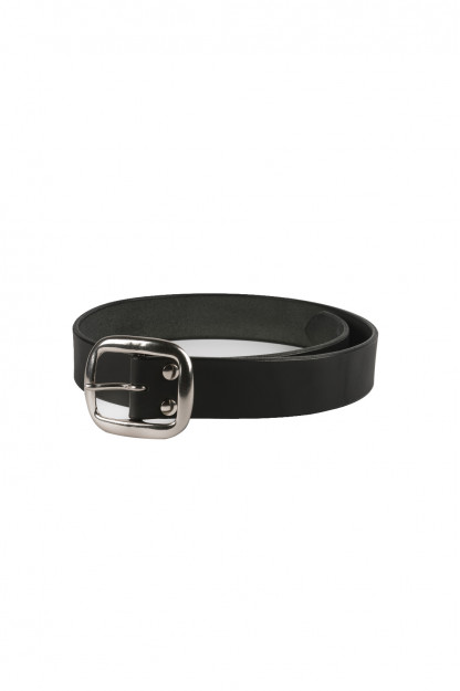 Studio D'Artisan Cowhide Leather Belt - Black