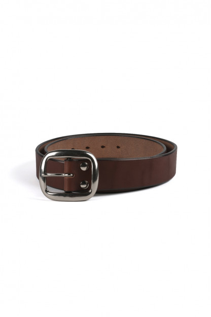 Studio D'Artisan Cowhide Leather Belt - Brown