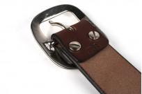 Studio D'Artisan Cowhide Leather Belt - Brown - Image 3