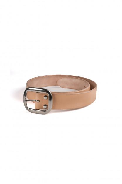 Studio D'Artisan Cowhide Leather Belt - Tan