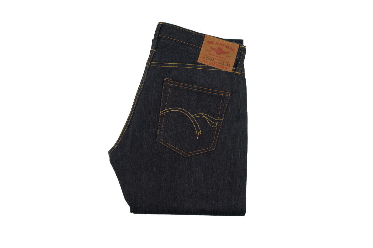 Flat Head 3002 14.5oz Denim Jean - Slim Tapered - Image 2