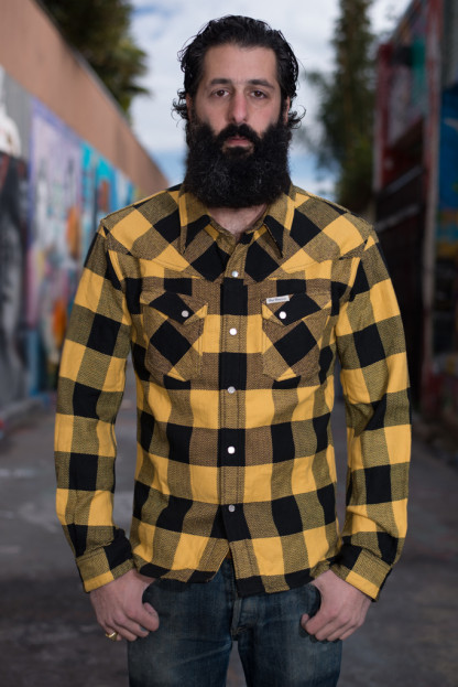Flat Head Mellow Yellow Winter Flannel Snap Shirt
