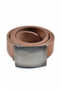 Flat Head Leather Belt - Tan - Image 0