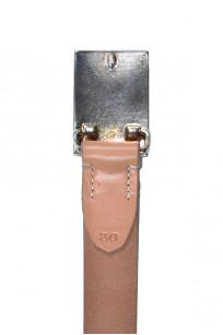 Flat Head Leather Belt - Tan - Image 2