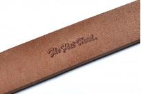 Flat Head Leather Belt - Tan - Image 1