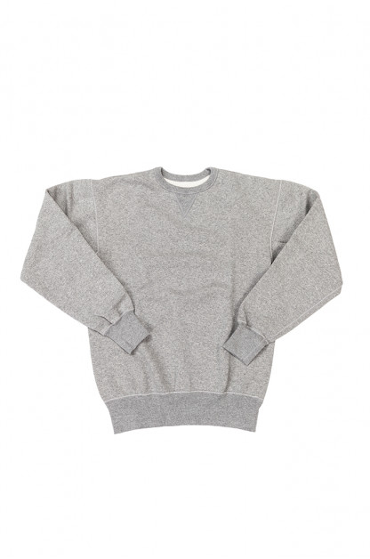 Flat Head Loopwheeled Flatlock Crewneck Sweater - Gray
