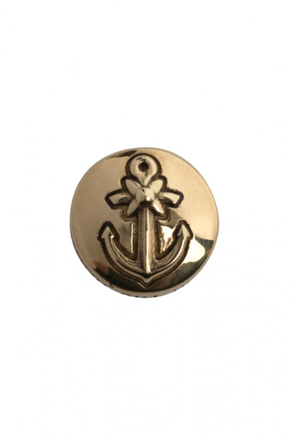 Good Art Brass Snap Button - Anchor