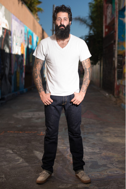 Iron Heart 301N 17oz Natural Indigo Jean - Slim Tapered