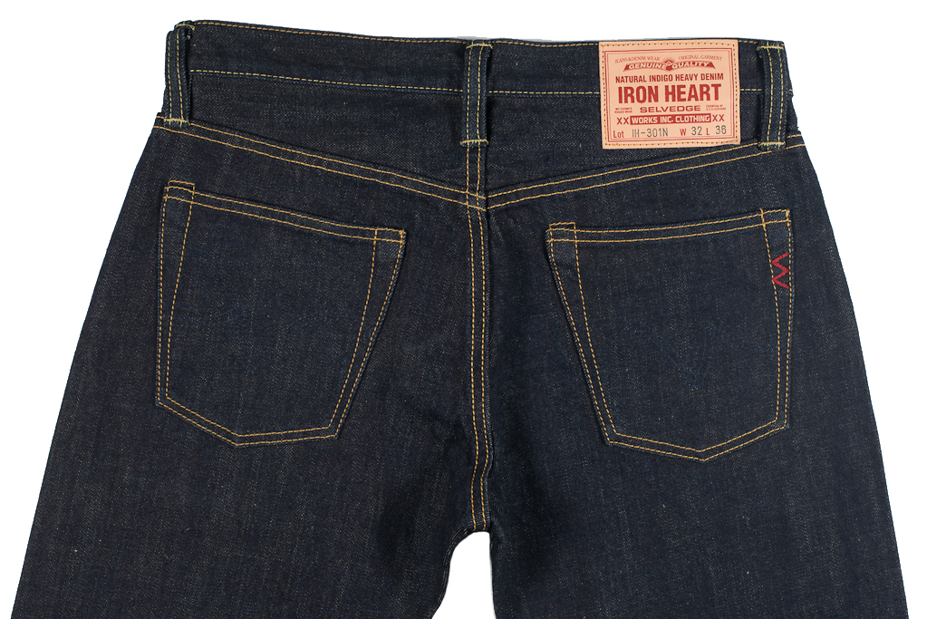 Iron Heart 301N 17oz Natural Indigo Jean - Slim Tapered - Image 3