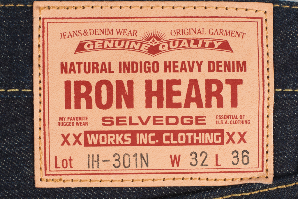 Iron Heart 301N 17oz Natural Indigo Jean - Slim Tapered - Image 2
