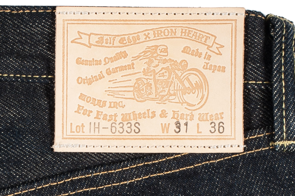 Iron Heart 633s 21oz Selvedge Jean - Straight Tapered - Image 7