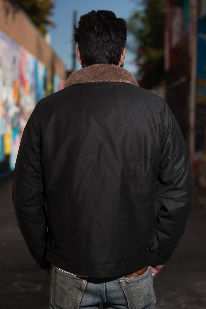 Iron Heart Alpaca-Lined N-1 Deck Jacket - Black - Image 15
