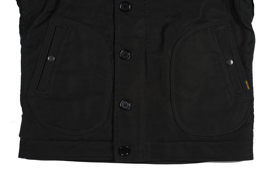 Iron Heart Alpaca-Lined N-1 Deck Jacket - Black - Image 11