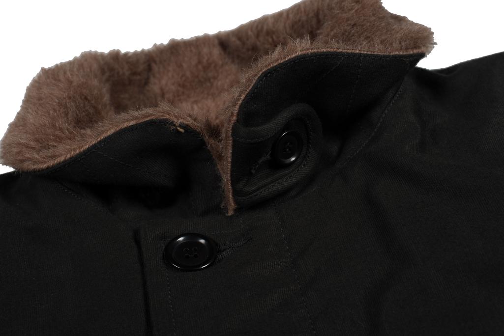 Iron Heart Alpaca-Lined N-1 Deck Jacket - Black - Image 8