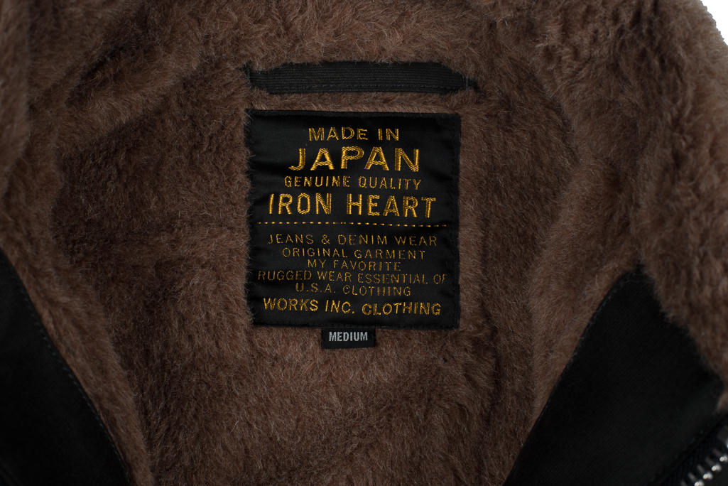 Iron Heart Alpaca-Lined N-1 Deck Jacket - Black - Image 6