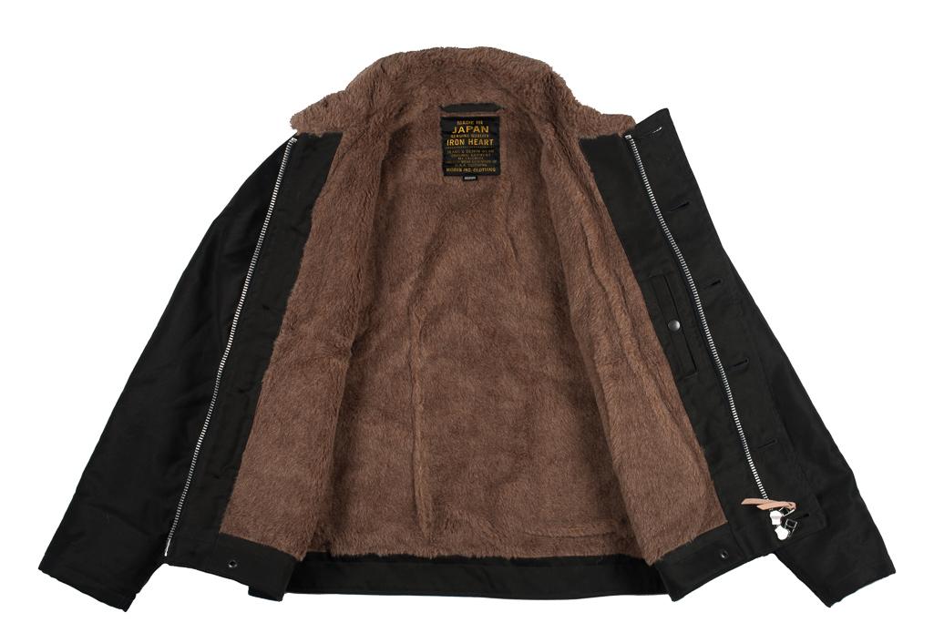 Iron Heart Alpaca-Lined N-1 Deck Jacket - Black - Image 4