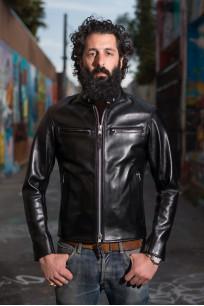 Iron Heart Horsehide Leather Jacket - Black Battle Edition - Image 0