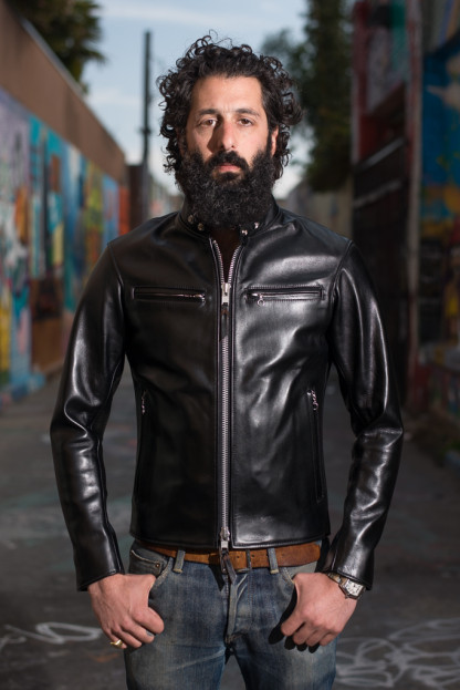 Iron Heart Horsehide Leather Jacket - Black Battle Edition
