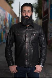 Iron Heart Deerskin Snap Buttoned Shirt - Black - Image 0