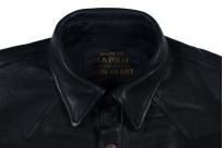 Iron Heart Deerskin Snap Buttoned Shirt - Black - Image 7