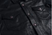 Iron Heart Deerskin Snap Buttoned Shirt - Black - Image 6
