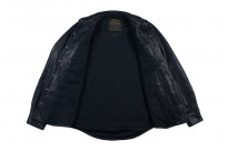 Iron Heart Deerskin Snap Buttoned Shirt - Black - Image 3