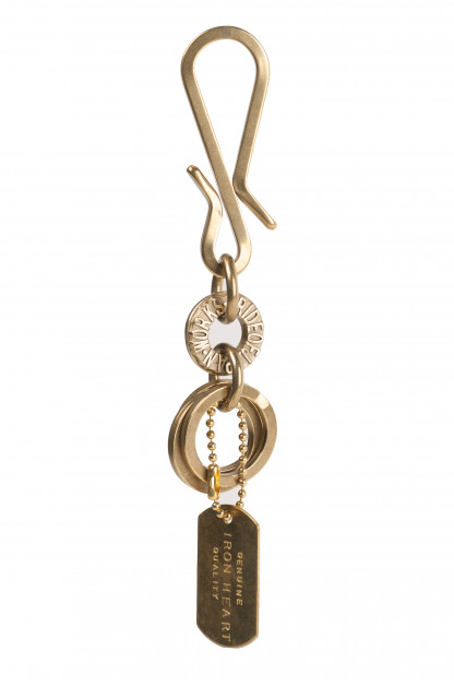 Iron Heart Brass Triple-Ring - S-Hook Keyhook