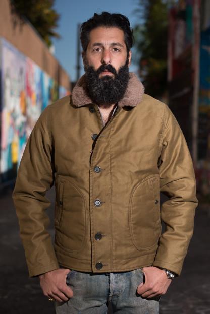 Iron Heart Alpaca-Lined N-1 Deck Jacket - Khaki
