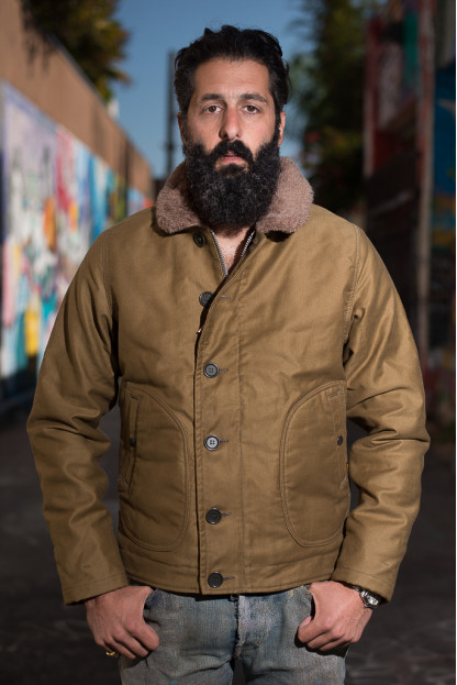 Iron Heart Alpaca-Lined N-1 Deck Jacket - Khaki