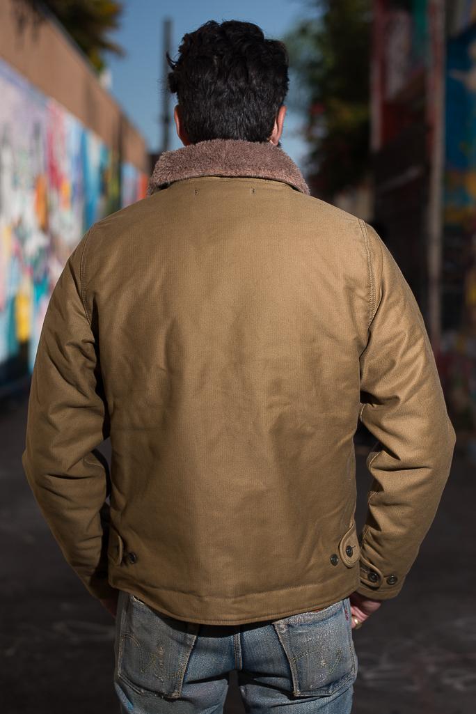 Iron Heart Alpaca-Lined N-1 Deck Jacket - Khaki - Image 15