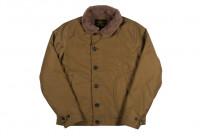 Iron Heart Alpaca-Lined N-1 Deck Jacket - Khaki - Image 9