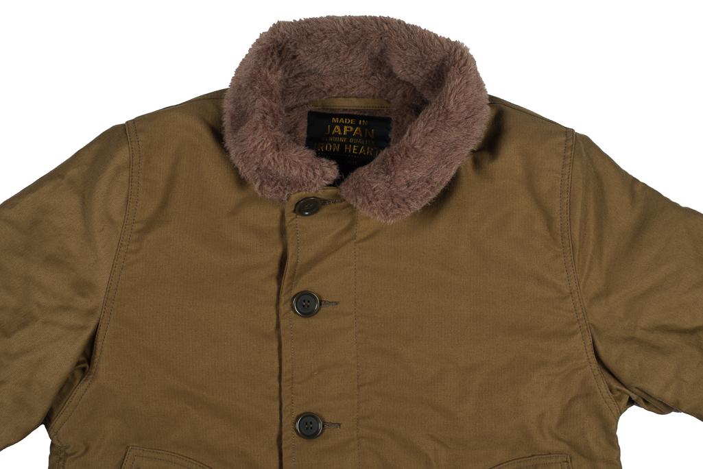 Iron Heart Alpaca-Lined N-1 Deck Jacket - Khaki - Image 1