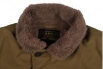 Iron Heart Alpaca-Lined N-1 Deck Jacket - Khaki - Image 14
