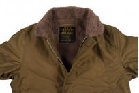 Iron Heart Alpaca-Lined N-1 Deck Jacket - Khaki - Image 8