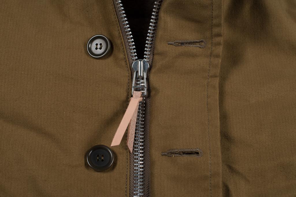 Iron Heart Alpaca-Lined N-1 Deck Jacket - Khaki - Image 7