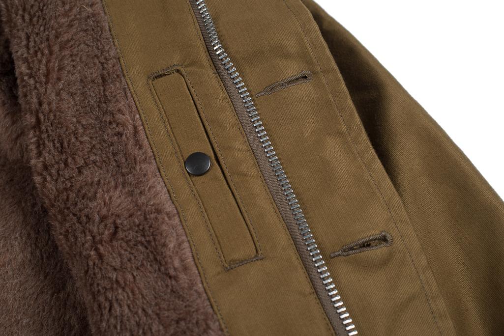 Iron Heart Alpaca-Lined N-1 Deck Jacket - Khaki - Image 6