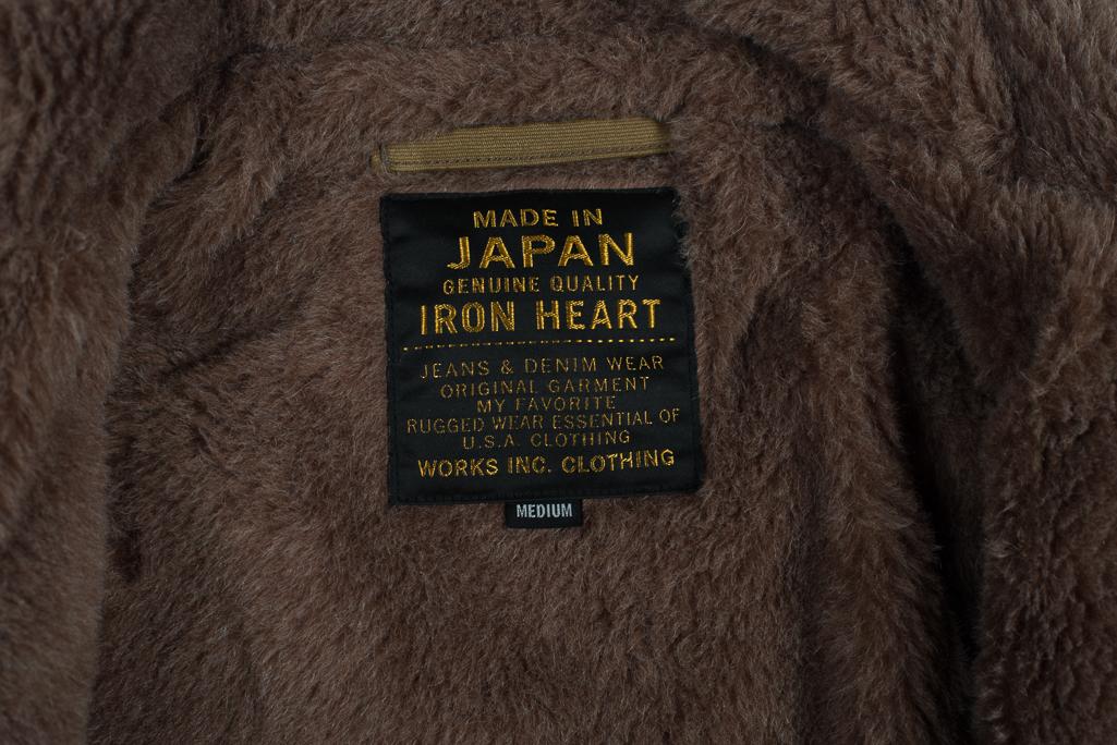 Iron Heart Alpaca-Lined N-1 Deck Jacket - Khaki - Image 3