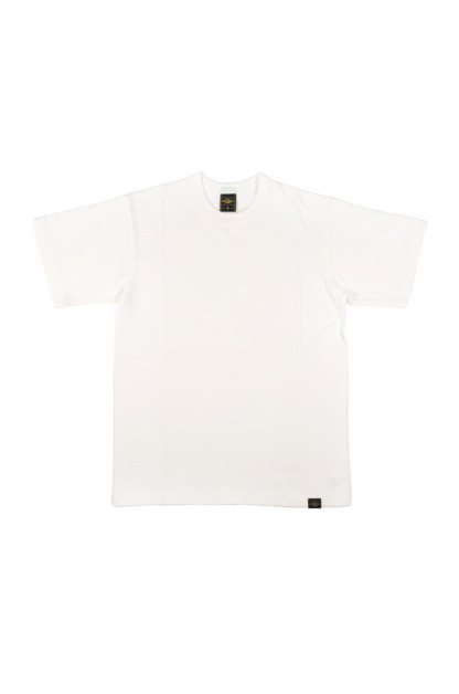 Iron Heart 6.5oz Heavy Loopwheeled T-Shirt - White